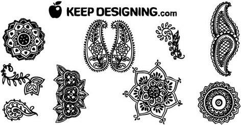 indian pattern svg indische henna design kostenlose vektor design elemente