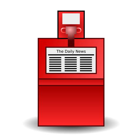 Red by Clipart Newspaper Stand