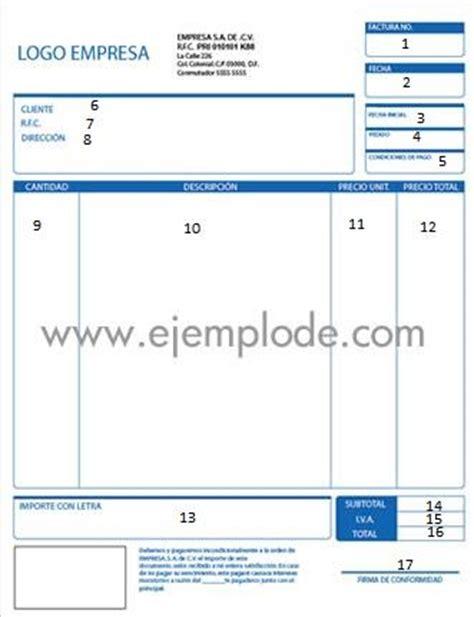 formato de facturas en excel mexico documentos comerciales factura