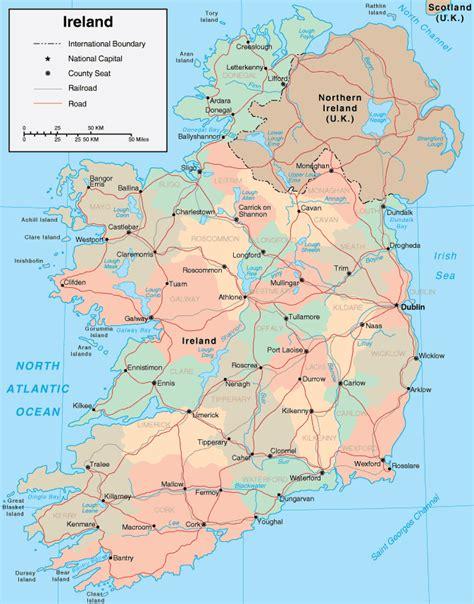 map ireland map of ireland maps of the republic of ireland