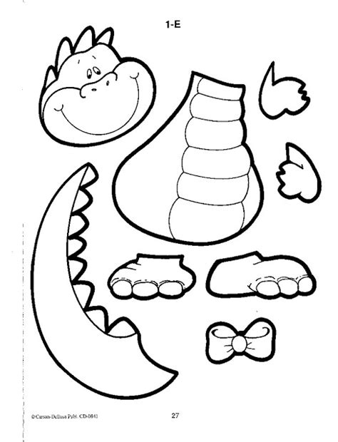 dinosaur cut outs coloring page dinosaur cut out coloring page