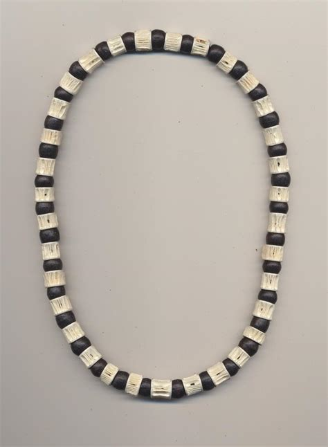 Necklace For Boys Made Of Fish Vertebrae And Wooden
