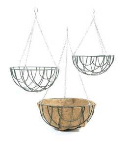 hanging planter basket standard wire outdoor garden hanging flower basket patio