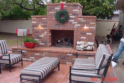 backyard brick fireplace outdoor living scottsdale by desert green creations arizona 480 994 1699