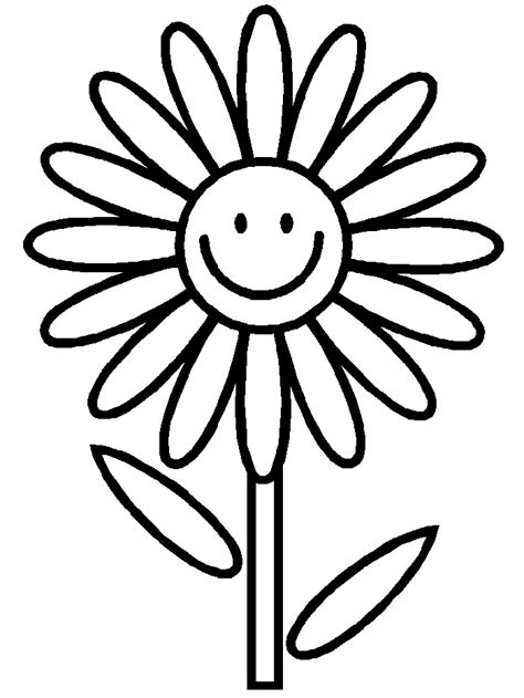Easy Flower Coloring Pages free coloring pages of simple flower