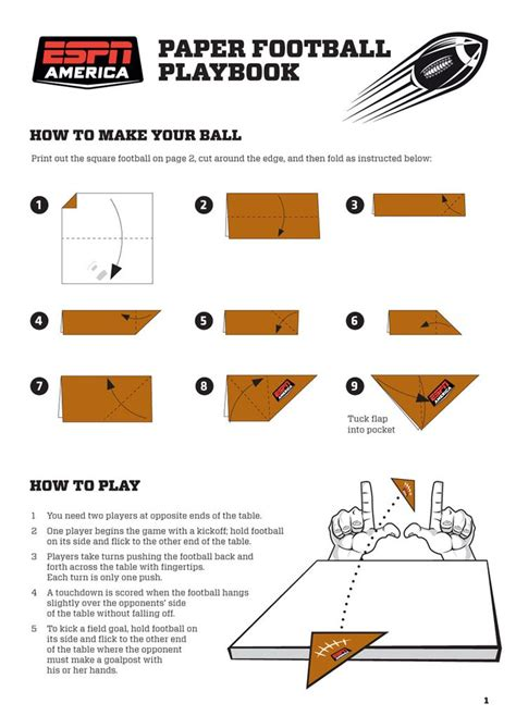 How Make A Paper Football - pin by howard on sharpen the saw ideas