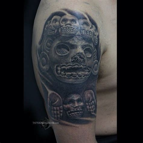 goethe tattoo by goethe mier at prehispanic images in fontana ca