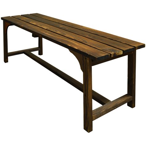 solid wood outdoor bench walton solid wood garden bench burntwood zly 95508bw