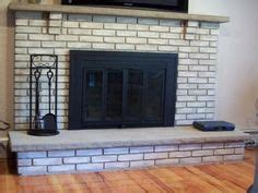 before and after brick paint fireplace redo i been