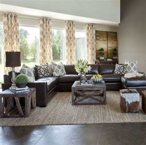 family room leather sofa ideas 10 creative methods to decorate along with brown neutral
