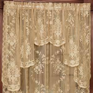 lace valances for windows fiona scottish lace swag valance window treatment