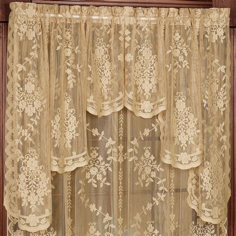 Lace Swag Valance fiona scottish lace swag valance window treatment