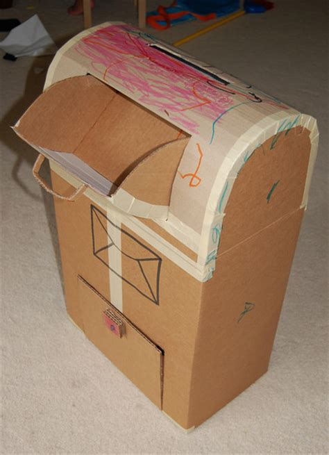How To Make A Post Box Out Of Paper - cardboard box crafts for