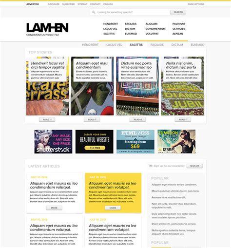 28 amazing psd magazine website templates web graphic
