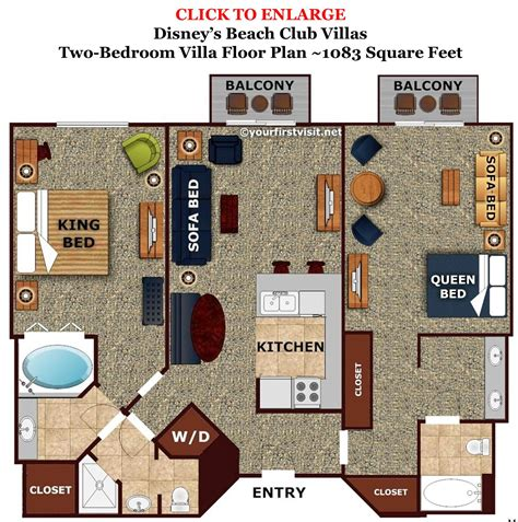Disney Club 2 Bedroom Villa Floor Plan - review disney s club villas continued