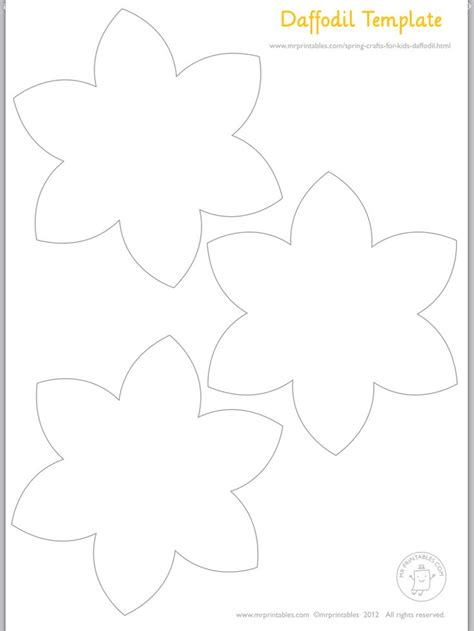 template of a daffodil αποτέλεσμα εικόνας για daffodils flowers clipart black and