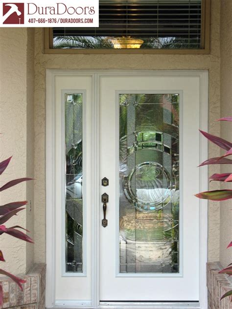 Plastpro Entry Door And Sidelight With Entropy Glass By Glass Entry Doors With Sidelights