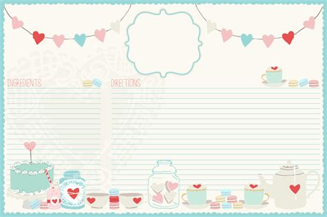 6 best images of cute printable recipe cards strawberry graphic of the day adorable recipe card the cottage market