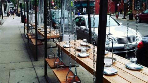 swinging meat meat restaurant swing set patio picture of meat chicago