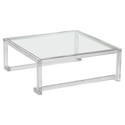 square acrylic coffee table grand modern acrylic square coffee table kathy kuo home