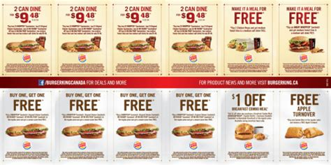 free online printable grocery coupons canada burger king canada printable coupons 2 can dine for 9 48