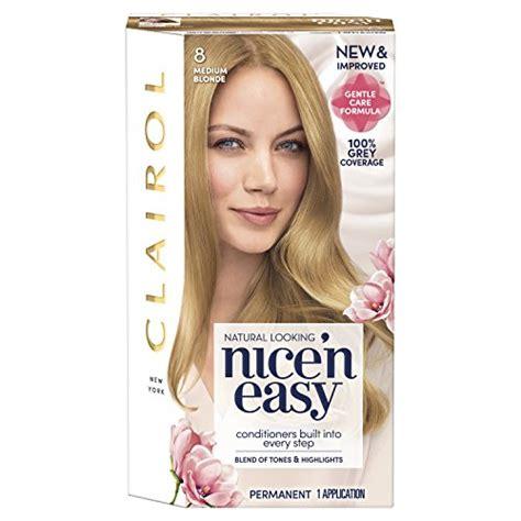 buy clairol nice n easy non permanent hair colour 8 clairol nice n easy permanent hair dye 8 medium blonde