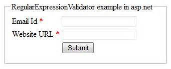email format validation in asp net how to use regularexpressionvalidator validation control