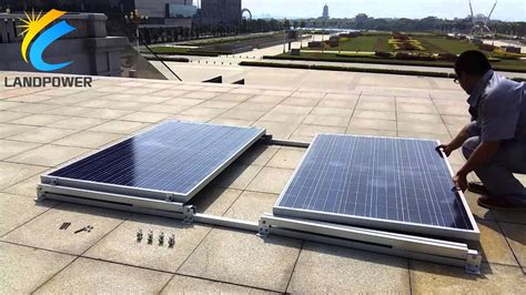 flat roof ballasted solar mounting systems landscape non