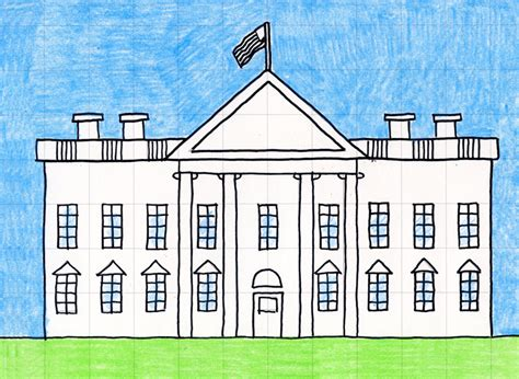 how to draw the white house draw the white house art projects for kids
