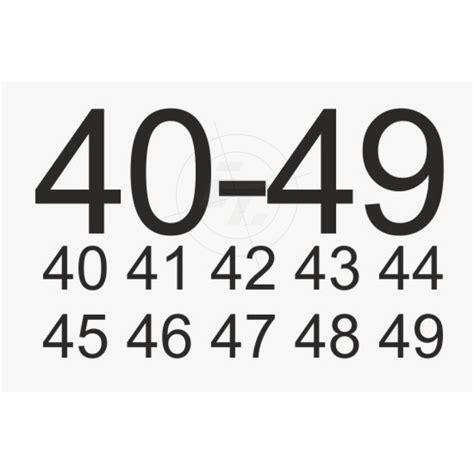 Aufkleber Zahlen sets zahlenaufkleber ziffer 10 99