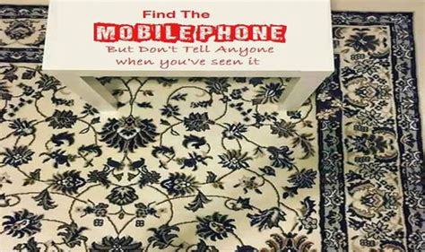 find a mobile phone can you spot the mobile hiding phone on the rug