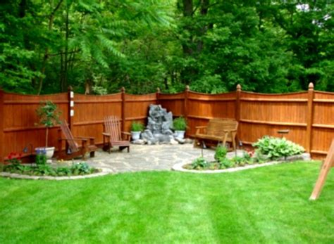 Backyard On A Budget Ideas Outdoor Concrete Deck With Pit For Inexpensive Small Diy Landscaping Ideas On A