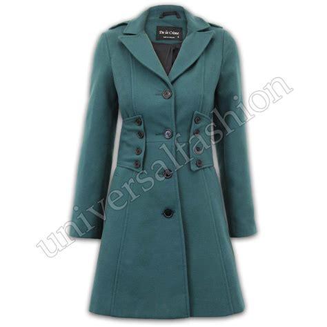 6561 Dress Jaket Coat coat womens jacket wool look button warm winter lined new