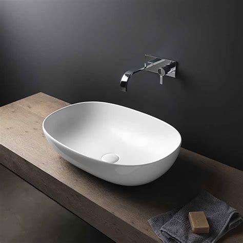 nic design vaso milk lavabo da appoggio in ceramica linea milk extreme in