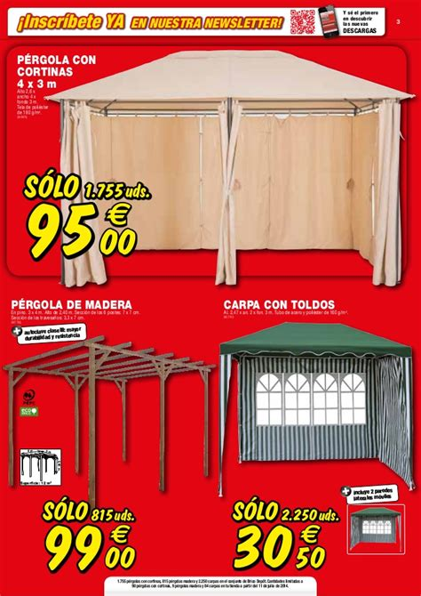 Pergola Brico Depot 755 by Catalogo Bricodepot Julio 2014