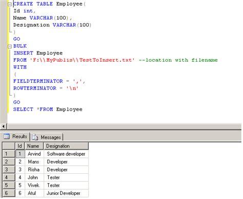 format file for csv bulk insert import csv or txt file into sql server using bulk insert