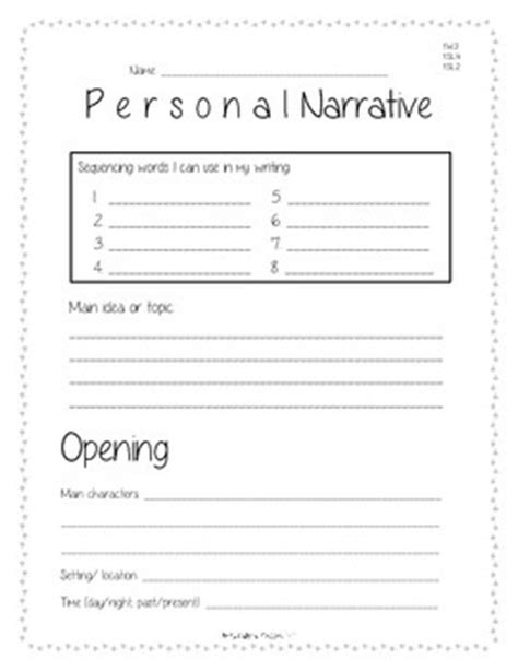 Personal Narrative Planning And Rough Draft Template By