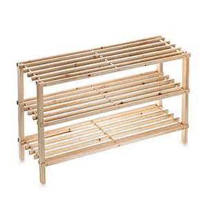 salt 3 tier stackable wood shoe rack www