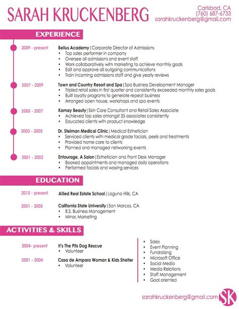 Sle Resume Medical Esthetician Http Resumesdesign Com Sle Resume Medical Esthetician Esthetician Resume Template