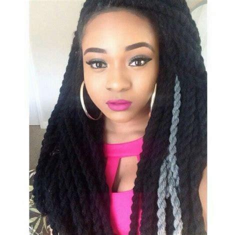 yarn braids natural hair styles pinterest yarns braids 164 twist natural hair protective style yarn