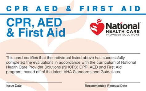 Online Cpr Aed First Aid Certification Cpr Card Template Pdf