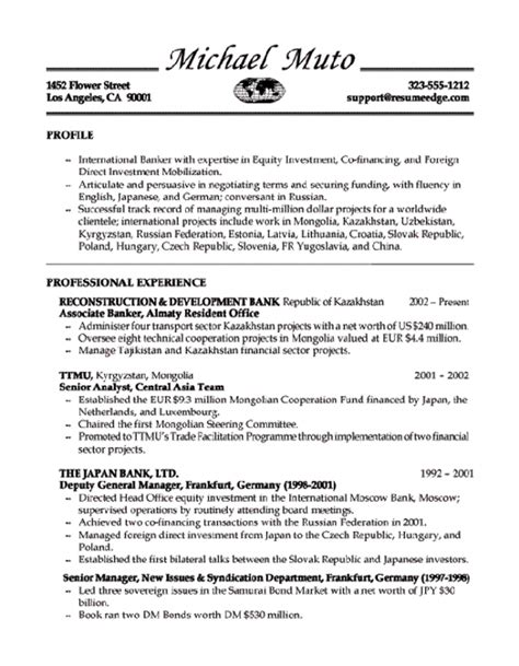 Banker Resume Template by Banker Resume