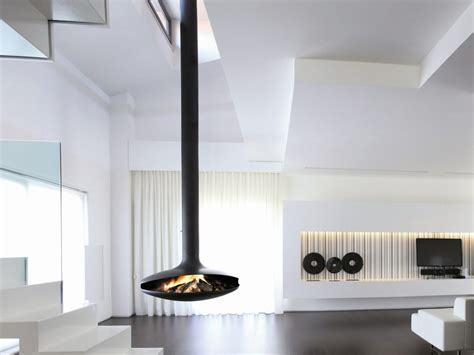 camino focus open central hanging fireplace gyrofocus gyrofocus