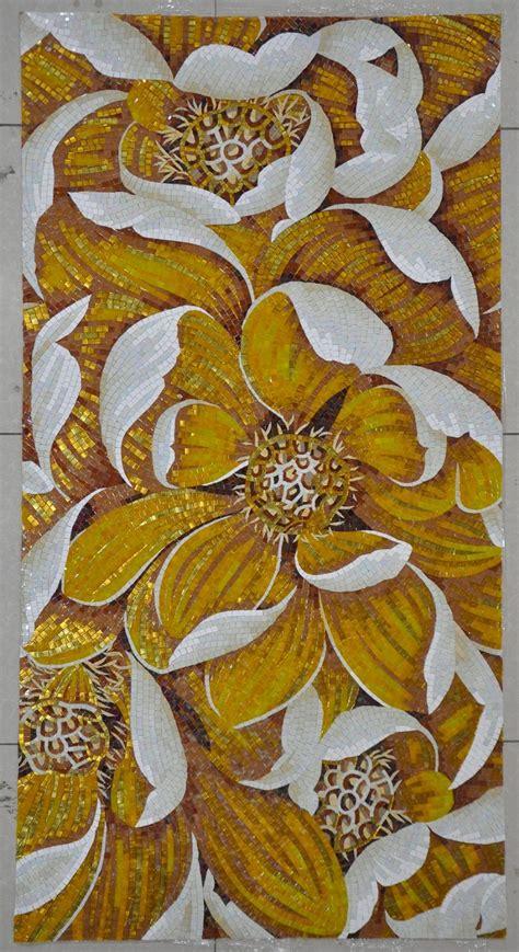 flower pattern mosaic tile factory sale flower pattern mosaic tile gold mosaic tile