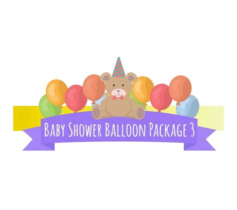 Baby Shower Packages by Baby Shower Balloon Package 3 Kidzpartystore