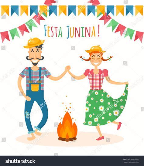 June Wedding Clipart by Festa Junina Vector Illustration Traditional