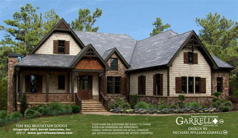 mountain house designs big mountain lodge a house plan house plans by garrell