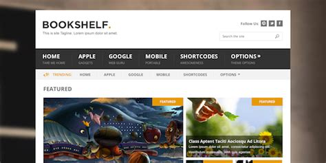 bookshelf theme mythemeshop