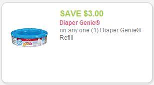 printable coupons for diaper genie refills coupon stack deal on diaper genie refills at target 270