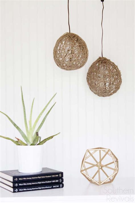 pendant lights diy diy twine pendant light with faultless starch